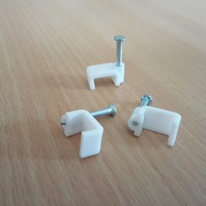 Cable Clip White FLAT
